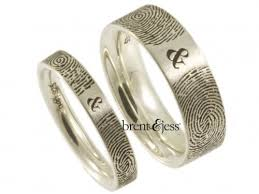fingerprint wedding bands 52 best fingerprint wedding rings images on