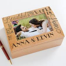 personalized box personalized wood photo memory box quotes