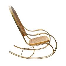Rocking Chair Makers Vintage Brass U0026 Cane Rocking Chair For Sale At Pamono