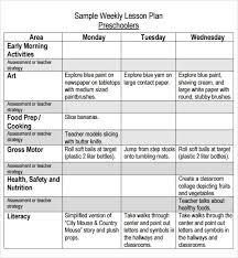 kindergarten lesson plan template best 10 lesson plan templates