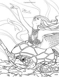 fairy mermaid coloring pages mythical mermaids coloring book dover patterns and motifs 1
