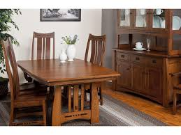 Amish Dining Tables Amish Impressions By Fusion Designs Hayworth Trestle Dining Table