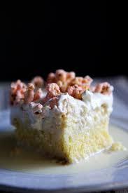 cornbread tres leches with maraschino popcorn u2014 glazed u0026 confused