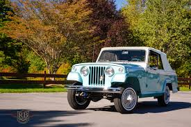 turquoise jeep cj 1967 jeepster commando rb collection