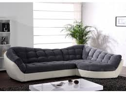 canapé original pas cher canapé angle tissu et cuir 3 coloris bicolores leandro