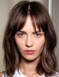 are bangs okay with medium short hair on 50 year old 24 best hair style center parted bangs fringe images on