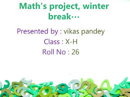 math u0027s project winter break