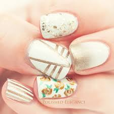 gold and white nail art image collections nail art designs