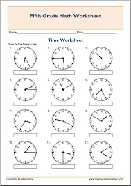 Math Worksheets For 5th Grade 5th Grade Math Worksheets Telling Archives Edumonitor