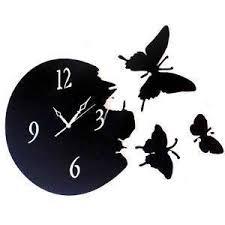 home you wall clock black butterfly 4660 clocks homeshop18