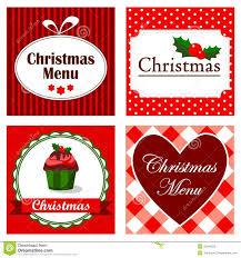 Christmas Invitation Card Set Of Four Cute Retro Christmas Invitation Cards Stock Photo