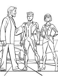 tron legacy kevin flynn proud son coloring pages color