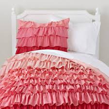 Ballet Comforter Set Girls Bedding Pink Ombre Ruffled Bedding Set Twin Fade To Pink