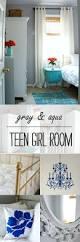 teen bedroom in gray and aqua