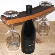 handmade wooden wine glass u0026 bottle holder