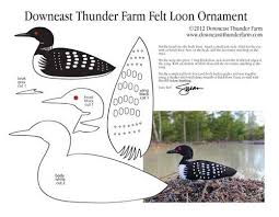 loon felt ornament occasions and holidays
