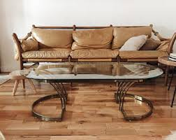 brass coffee table etsy