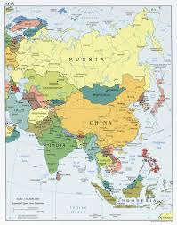 Map Asia Blank by