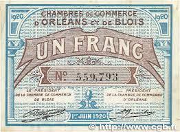 chambre de commerce orleans 1 franc régionalisme et divers orléans et blois 1920 jp
