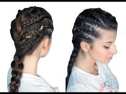 show me rockstar hair cuts chic rockstar braided look youtube