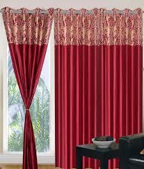 Maroon Curtains 41 Off On Homefab India Set Of 2 Designer Maroon Curtains 7 Feet