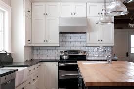 Houzz Kitchen Backsplash Ideas Luxurious Subway Backsplash Contrast Grout Houzz Tiles Kitchen