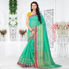 best cotton buy green geometric design cotton saree online india best prices