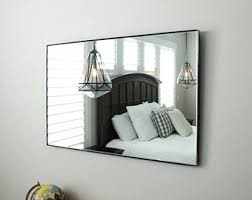 Bathroom Frameless Mirrors Frameless Mirror Etsy