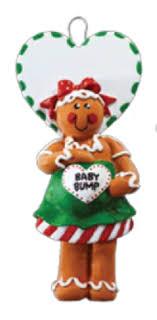 baby bump gingerbread pregnancy ornament