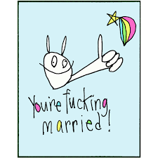 rabbitrabbit card you re married bird on a wire creations