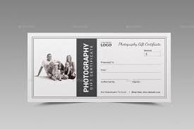 free photography gift certificate template items similar to free