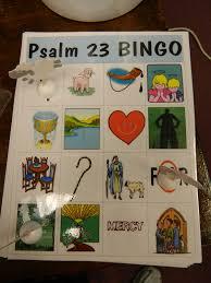 psalm 23 bingo vbs ideas pinterest psalm 23 sunday