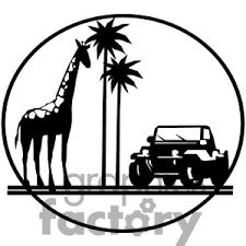 safari jeep front clipart african safari trip giraffe and jeep travel clipart pinterest