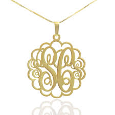 Gold Plated Monogram Necklace 4 Initial Necklace 4 Leters Monogram Necklace 1 2 Inch