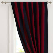 Rugby Stripe Curtains Rugby Stripe Blackout Drape Pbteen