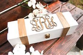 wine box wedding ceremony personalized wine box monogram wood engraved wedding box