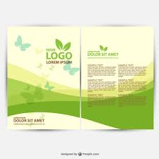 brochure ecology template vector free download