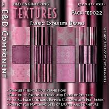 Drape Of Fabric Second Life Marketplace Fed022 12 Exquisite Pink Curtain