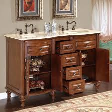 bathroom design magnificent narrow double vanity 60 inch double