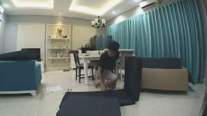 Sofa Come Bed Ikea by Sofabed Ikea Solsta Firstvideo Indonesia Youtube