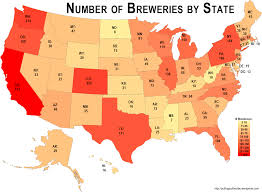 Colorado Brewery Map by Us Breweries Map Putting Out The Vibe