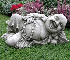 reclining buddha garden ornament 37 9 garden4less uk shop
