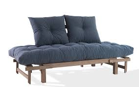 comprar futon sof縺 cama futon country comfort 190x80x83 cm acabamento nogueira