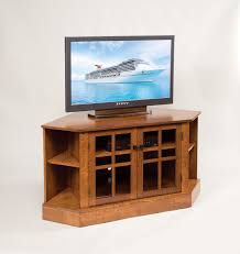 corner tv stand with glass doors light brown wooden tv stand with storage plus glass doors and four