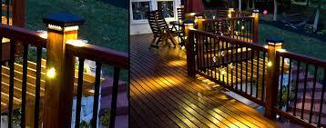 Outdoor Timer For Lights by Led Light Design Best Led Deck Post Lights Fence Post Lighting