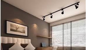 Spot Lights Ceiling Overhead Track Lighting Modern Designed Kitchen With Track