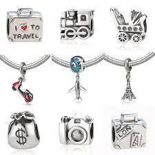 sterling silver charm bead bracelet images New 925 sterling silver charm bead plane travel camera eiffel jpg