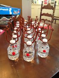 thanksgiving water bottle labels reindeer waters selections by sisters