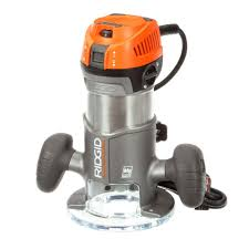 ridgid 2 hp 1 2 in corded fixed base router r22002 the home depot