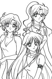 sailor moon crystal coloring pages free colouring